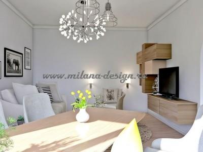 Проект гостиной в скандинавском стиле