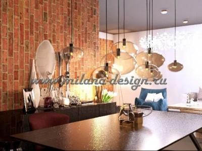 Дизайн-проект гостиной в ЖК Суханово Парк