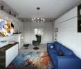 Дизайн проект однокомнатной квартиры Коломенская наб
