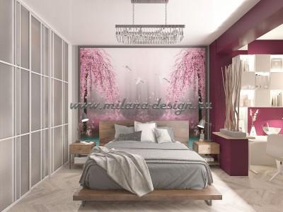Дизайн проект спальни - Бордо
