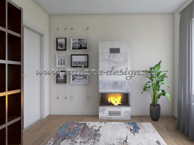 Дизайн-проект рабочего кабинета в квартире